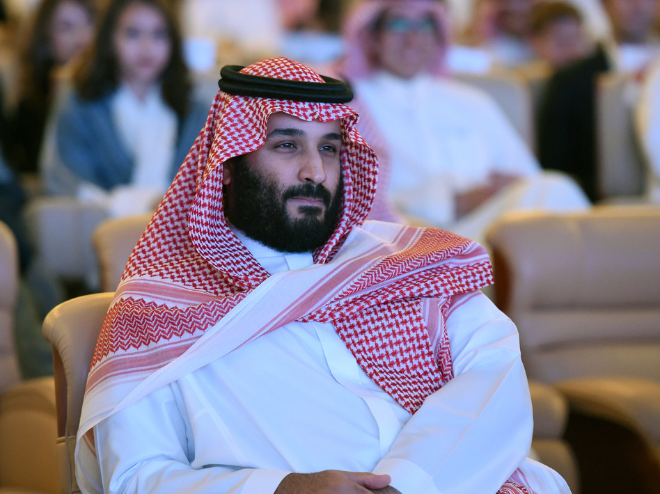 """Saudi Crown Prince Mohammed bin Salman attends the Future Investment Initiative conference in Riyadh last month. """"We are returning to what we were before — a country of moderate Islam that is open to all religions and to the world,"""" he said at the economic forum. (Fayez Nureldine/AFP/Getty Images)"""
