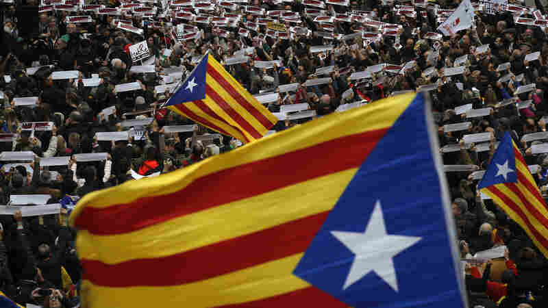 As Protesters Clog Catalonia, Court Snuffs Out Declaration Of Independence