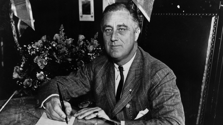 The man known universally as FDR, pictured here in 1936, is the subject of historian Robert Dallek's <em>Franklin D. Roosevelt: A Political Life</em>. (Keystone Features/Getty Images)