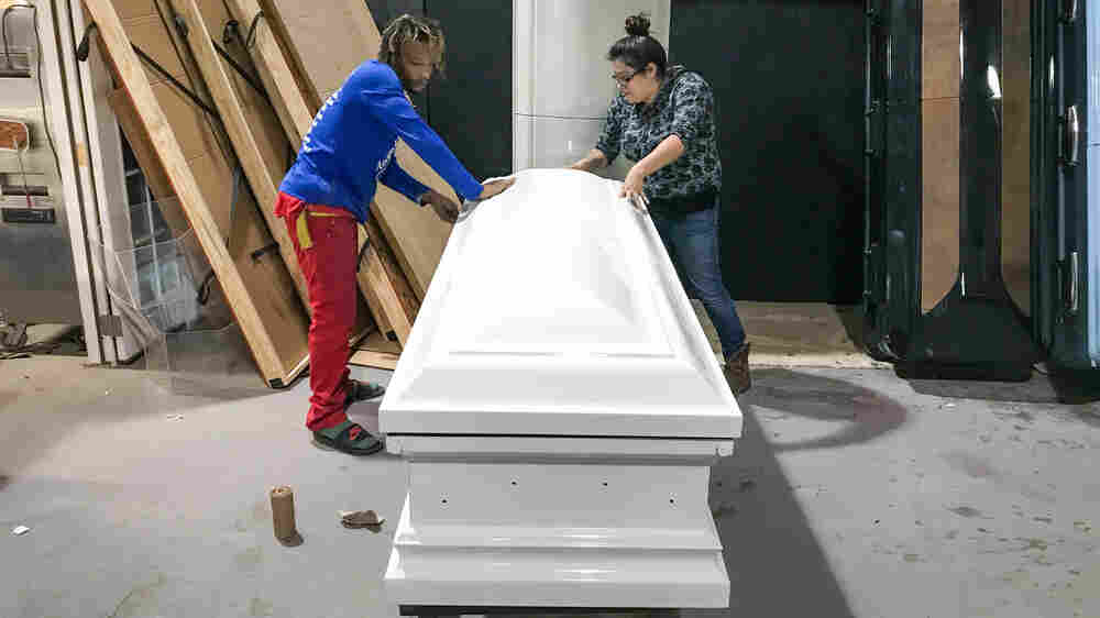 With Shiny Pink And Camo, Casket Designer Honors Texas Shooting Victims