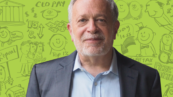 Robert Reich Shows Off His Cartooning Skills In 'Economics In Wonderland'