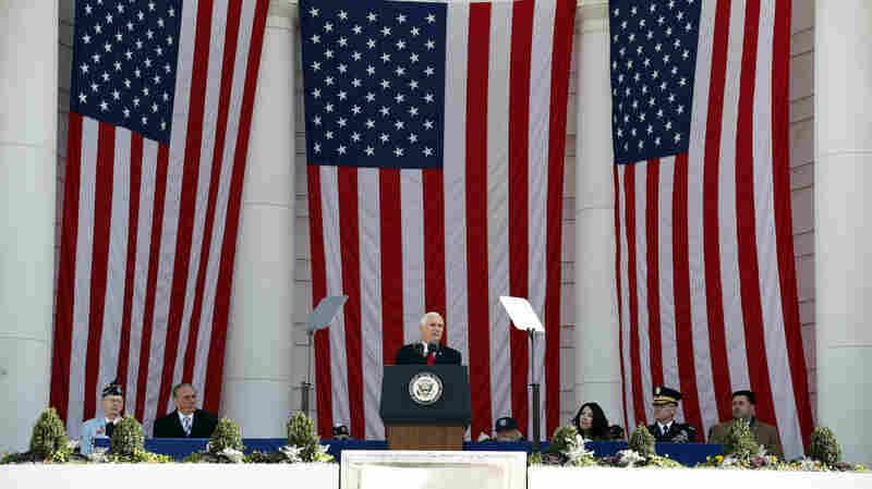 Vice President Pence Speaks At Arlington On 64th Observance Of Veterans Day