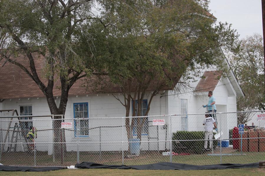 a week after mass shooting texas church to open as a memorial
