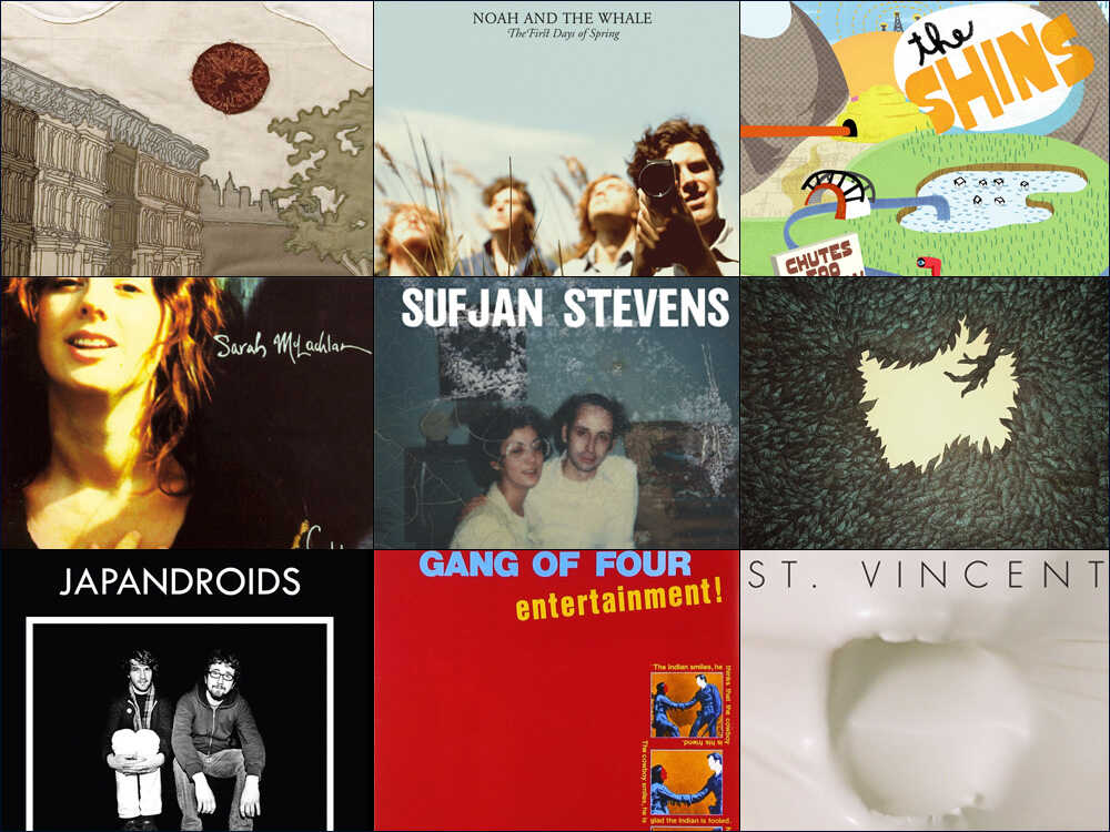 A collage of album covers.