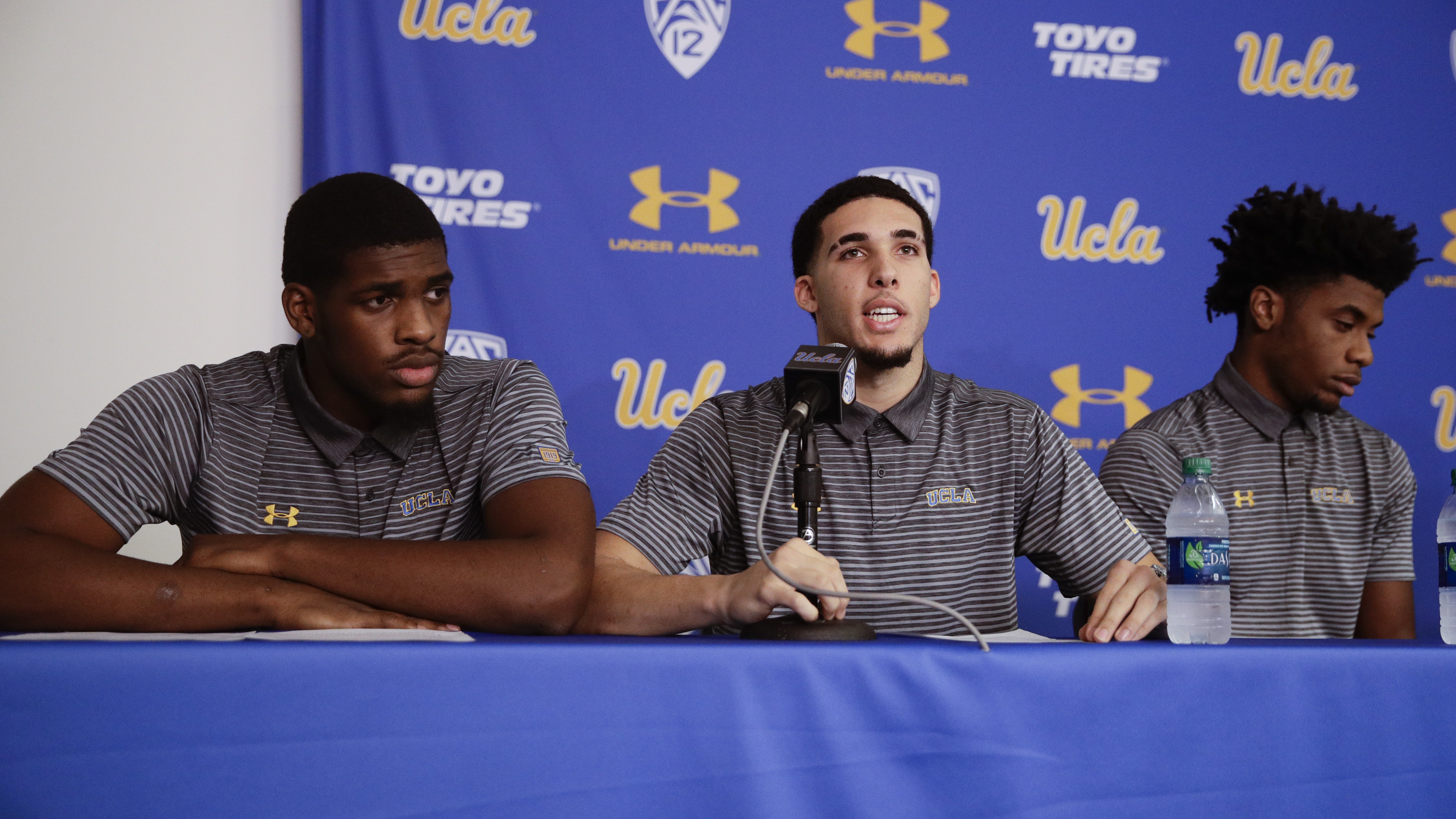 UCLA basketball players to speak at news conference on campus this morning