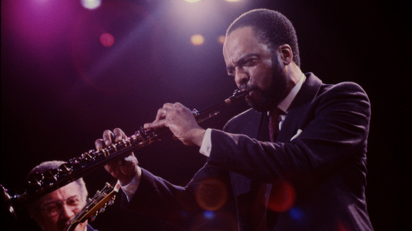 "Grover Washington Jr. performs on stage during the ""One Night With Blue Note"" concert in New York on Feb. 22, 1985."