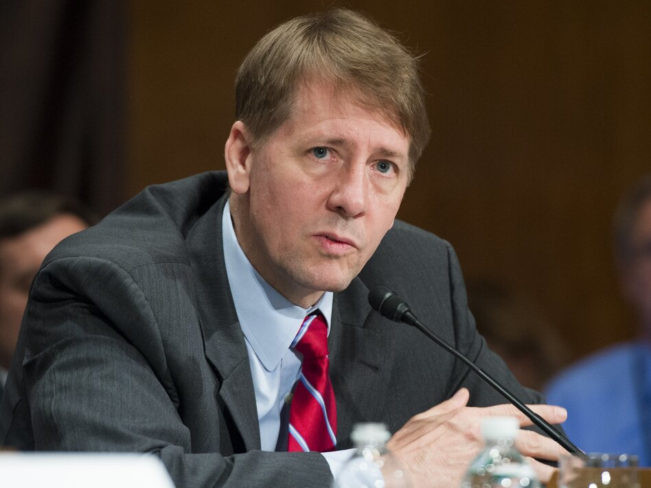 Richard Cordray, who was appointed by President Barack Obama, is stepping down as head of the Consumer Financial Protection Bureau. (Saul Loeb/AFP/Getty Images)