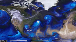 WATCH: The Hurricane Season, As Shown By Salt, Smoke And Dust