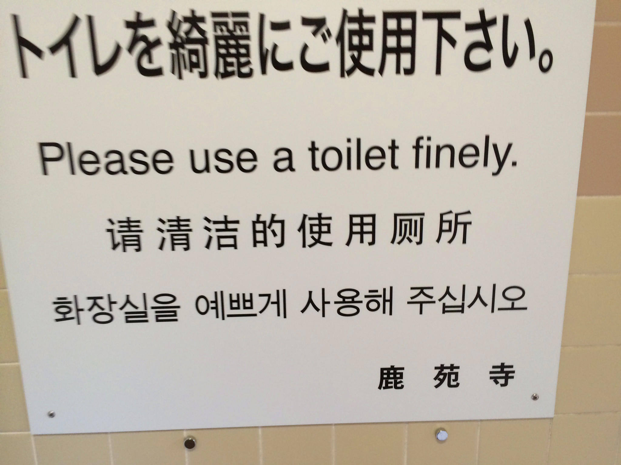 Toilet Signs Are Mysterious And Mirth-Inducing