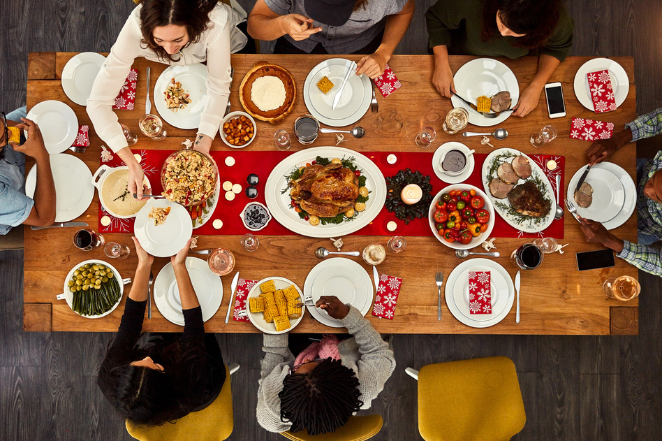 Lots of families fight over politics at the holiday table. But decisions about which foods to put on the table can whip up stress and squabbles, too. (PeopleImages/Getty Images)