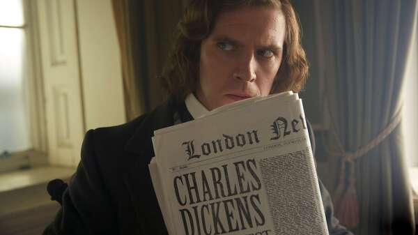 Dan Stevens stars as Charles Dickens in The Man Who Invented Christmas.