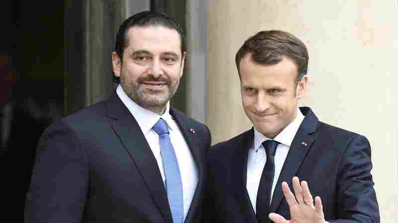 Lebanese Prime Minister Saad Hariri Meets Macron In Paris
