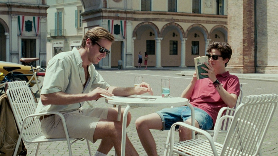 In <em>Call Me By Your Name, </em>Oliver (Armie Hammer, left) and Elio (Timothée Chalamet) spend a summer falling in love in Northern Italy. (Sayombhu Mukdeeprom/Sony Pictures Classics)