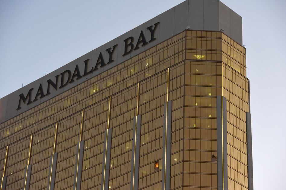 Multiple lawsuits have been filed by victims of the Oct. 1 mass shooting in Las Vegas. The company that owns the Mandalay Bay, MGM Resorts International, is among the parties being sued. (Robyn Beck/AFP/Getty Images)