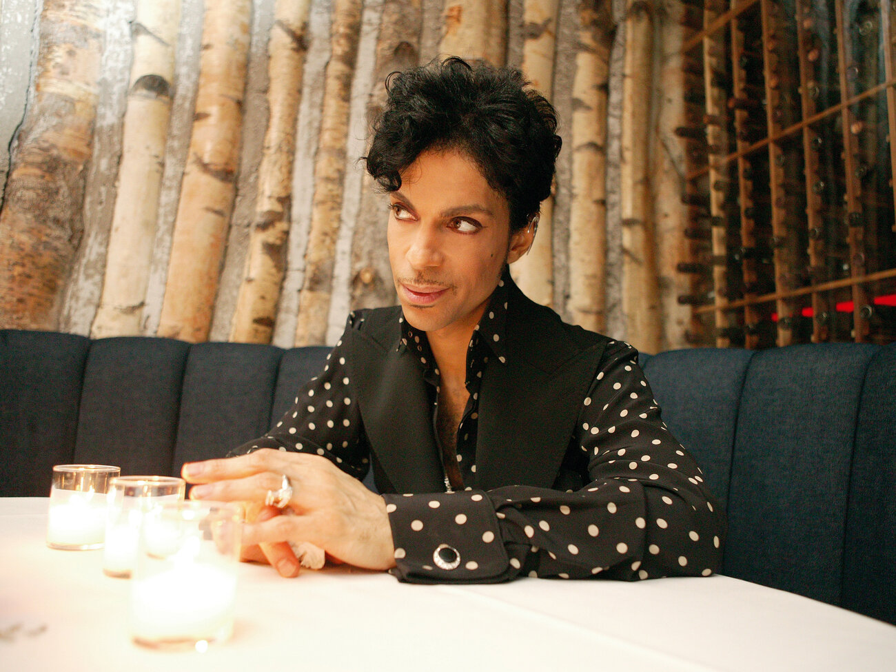 Prince is discussing everything from love to the constellations, 2004. (Afshin Shahidi/Prince: A Private View)
