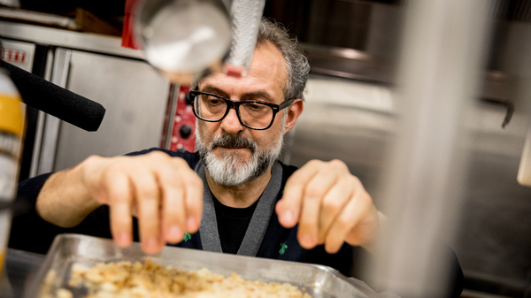 Chef Massimo Bottura creates a meal from Thanksgiving leftovers in NPR