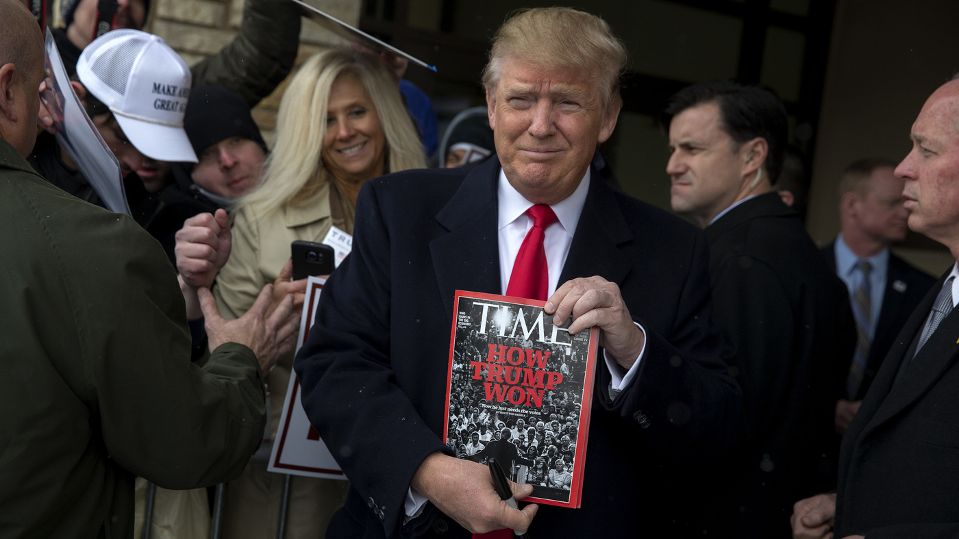 Trump Says He Passed On Being 'Person Of The Year.' 'Time' Says He's 'Incorrect'