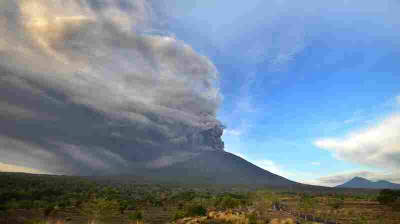 Ash Fills The Sky As Bali's Mount Agung Erupts