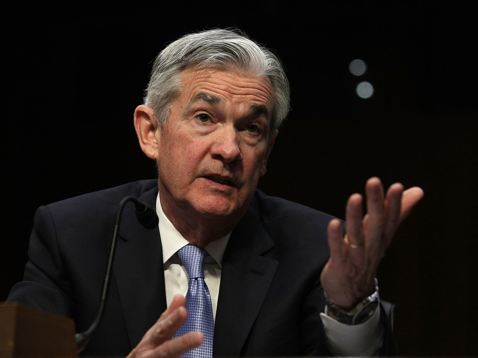 Jerome Powell, nominated to be the next chairman of the Federal Reserve Board, testifies Tuesday during his confirmation hearing before the Senate Banking Committee. (Alex Wong/Getty Images)