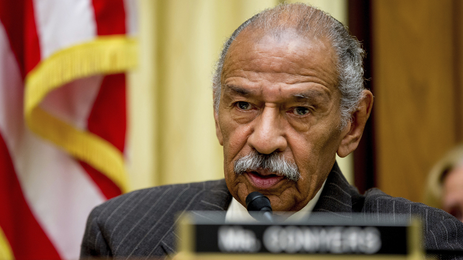 Rep. John Conyers, D-Mich., who has been accused of sexual harassment by former staffers, has been hospitalized. (Andrew Harnik/AP)