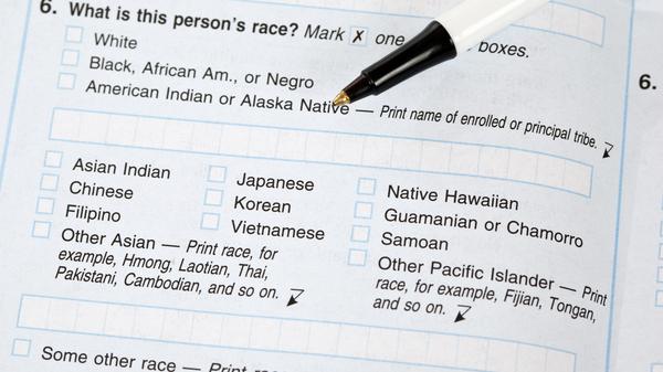 Si la Maison Blanche approuve une proposition visant à changer la façon dont le gouvernement collecte les données sur la race et l'ethnicité, les Blancs Les États-Unis peuvent être invités à cocher des cases sur leur origine ethnique. Mais dans ce formulaire de recensement de 2010, répondre à «blanc» était suffisant pour répondre à la question raciale.
