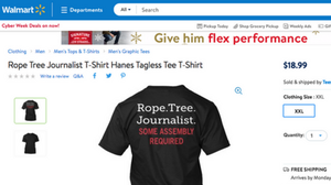 Walmart Pulls T-Shirts That Hint At Lynching Journalists