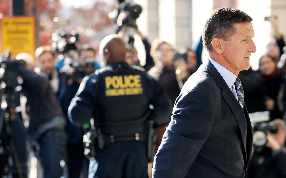 Michael Flynn, former national security adviser to President Trump, arrives for his plea hearing at the Prettyman Federal Courthouse on Friday in Washington, D.C. (Chip Somodevilla/Getty Images)