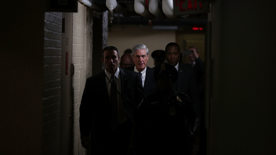 Department of Justice special counsel Robert Mueller leaves after a closed meeting with members of the Senate Judiciary Committee in June at the Capitol in Washington, D.C. (Alex Wong/Getty Images)