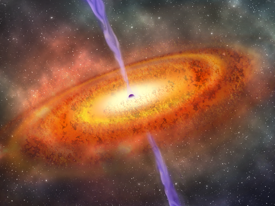 Astronomers observe most-distant supermassive black hole yet discovered