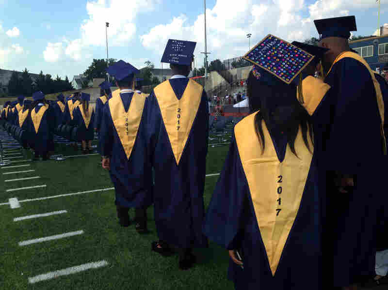 2017 graduation ceremony at Ballou High School in Washington, D.C.