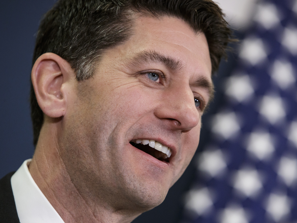 House Speaker Paul Ryan of Wis., speaks after House Republicans held a closed-door strategy session on Capitol Hill in Washington. The Republican-led House passed a bill to make it easier for gun owners to legally carry concealed weapons across state lines. (J. Scott Applewhite/AP)
