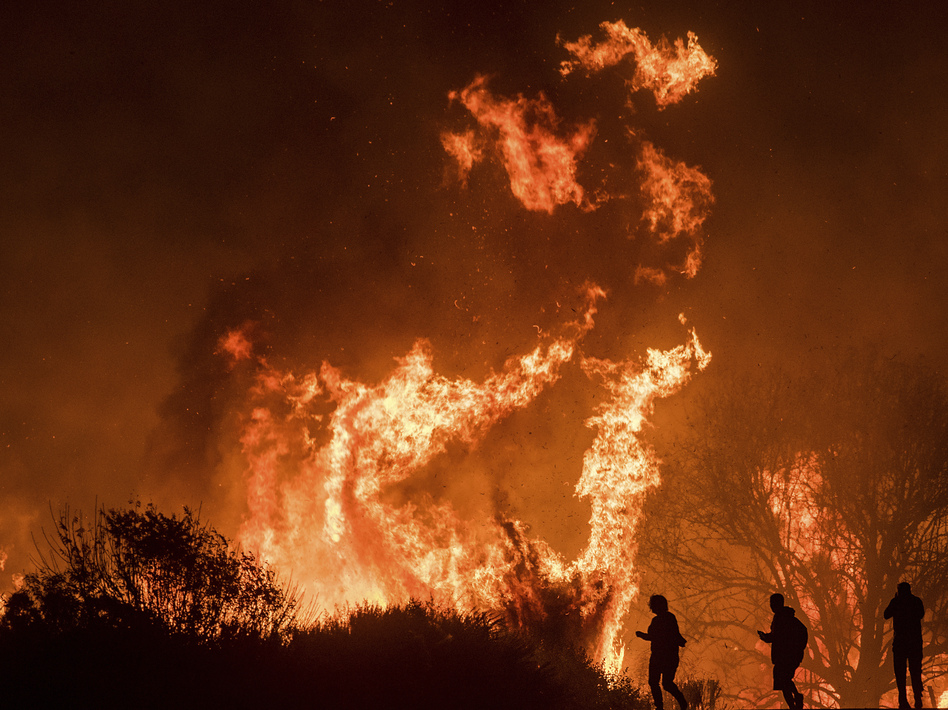 Southern California Fires Surpass 140000 Acres As Santa Ana Winds - Fire-coffee-table-by-axel-schaefer