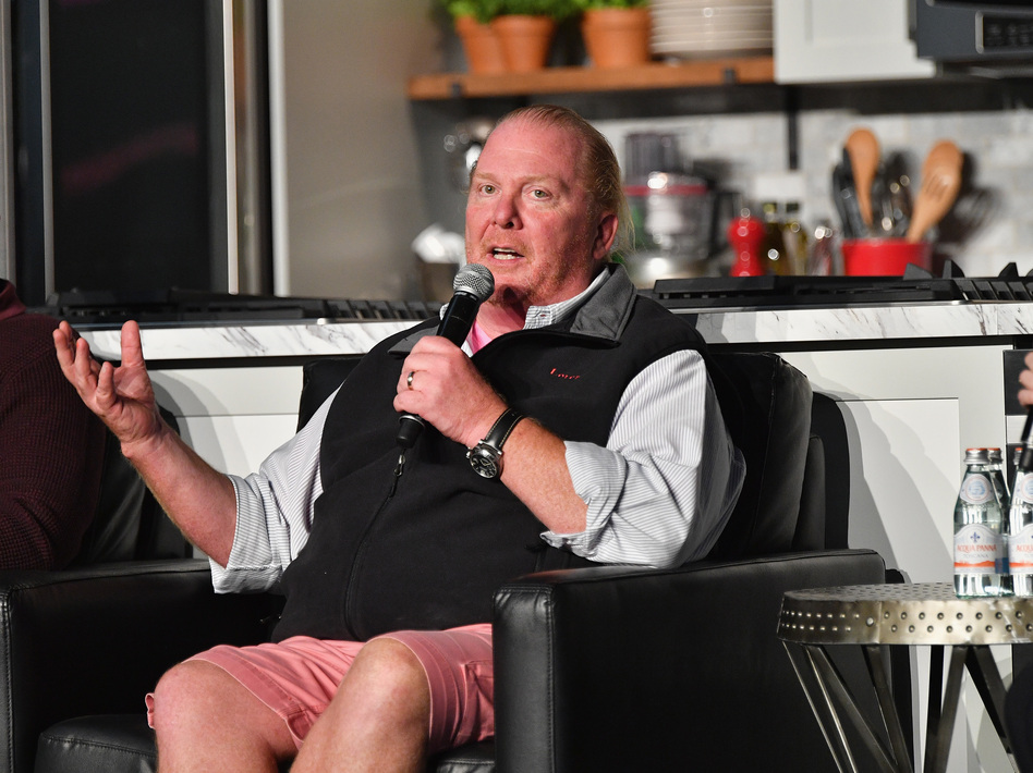 Celebrity chef Mario Batali in October in New York City. Batali said Monday he was stepping aside from day-to-day running of his businesses amid allegations of sexual misconduct by women who worked for him. (Dia Dipasupil/Getty Images for NYCWFF)