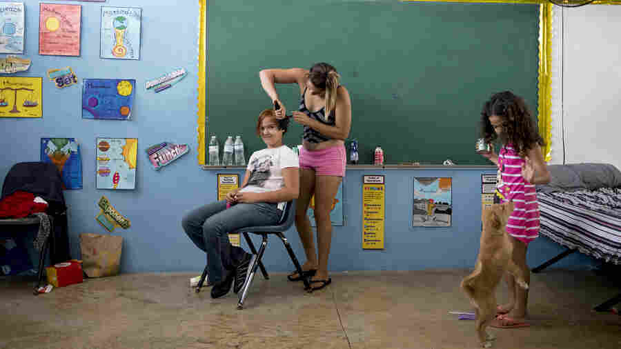 If A School Becomes A Shelter In Puerto Rico, Where Do Students Learn?