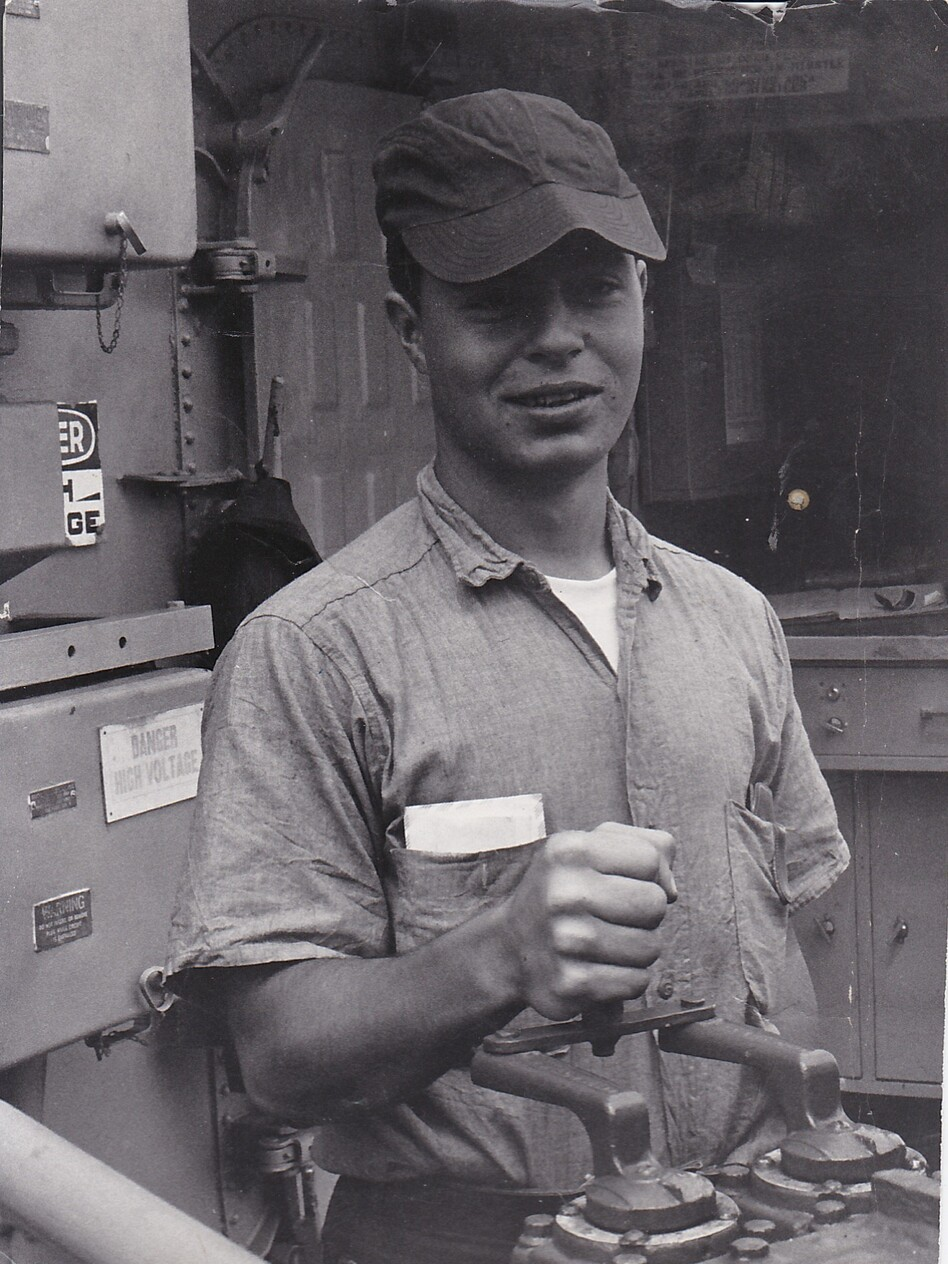<strong></strong>Earl Borges in the late '60s in the missile launch room of the USS Stoddard. Borges served as a petty officer in the U.S. Navy during the Vietnam War.