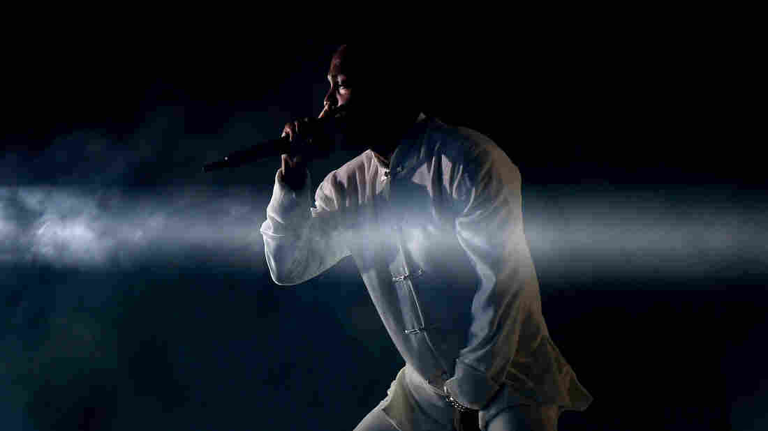 Kendrick Lamar performs at Coachella in Indio, Calif.