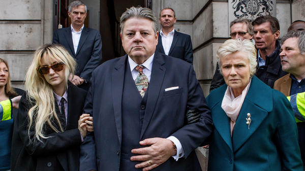 The British TV series National Treasure (available on Hulu) features Robbie Coltrane as a beloved comedian who has been accused of sexual assault, and Julie Walters (right) and Andrea Riseborough as his wife and daughter.