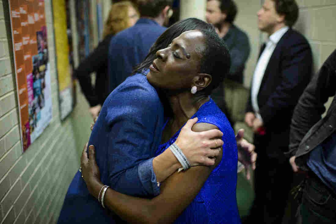 Celebrate Brooklyn, June 2016 After the show, Sharon Jones met with Sharon Van Etten.