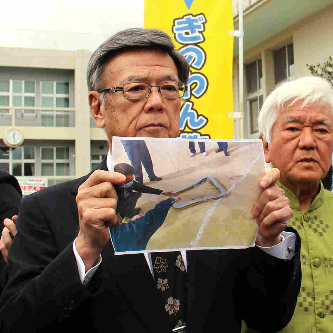 Okinawa police inspect United States helicopter after incident