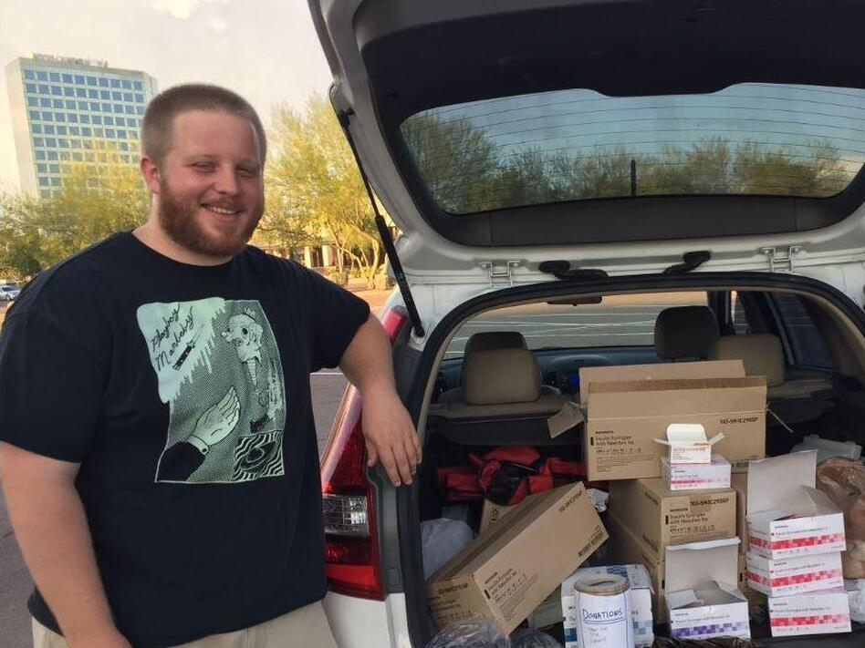 George Patterson is one of the volunteers who run Phoenix's only syringe exchange program, a mobile program called Shot in the Dark. (Will Stone / KJZZ)