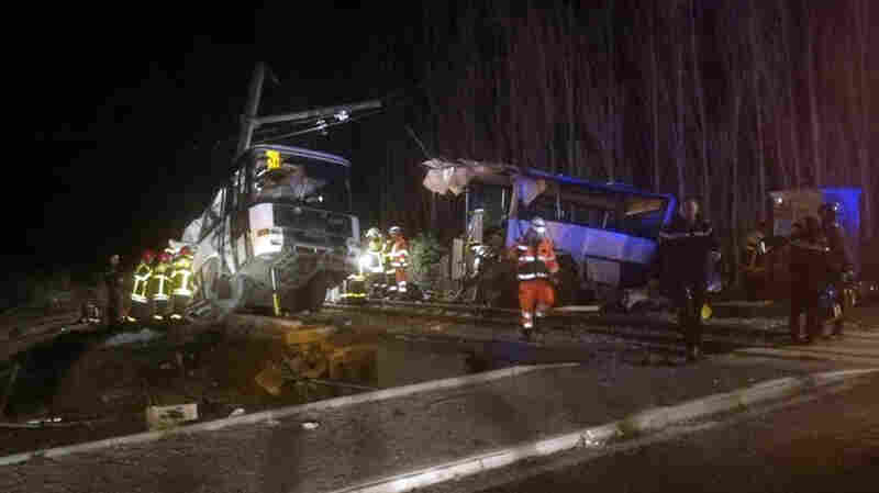 Four Children Killed In School Bus And Train Collision In France