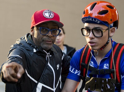 Spike Lee directs Anthony Ramos on the set of Netflix's She's Gotta Have It. (David Lee/Courtesy of Netflix)