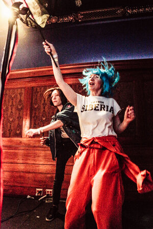 Members of Pussy Riot, performing at the Lodge Room in Los Angeles.