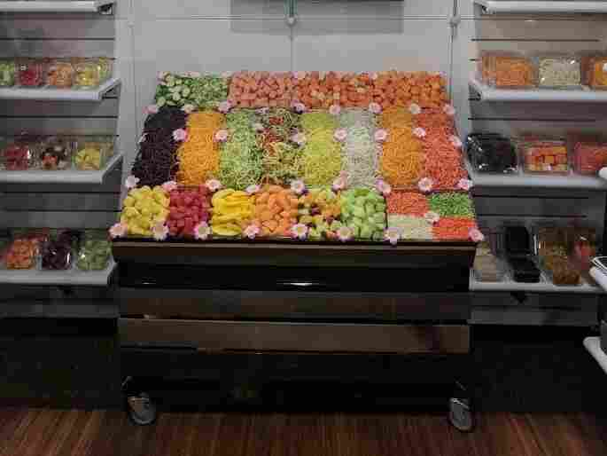 The New York Produce Show and Conference has many colorful displays.