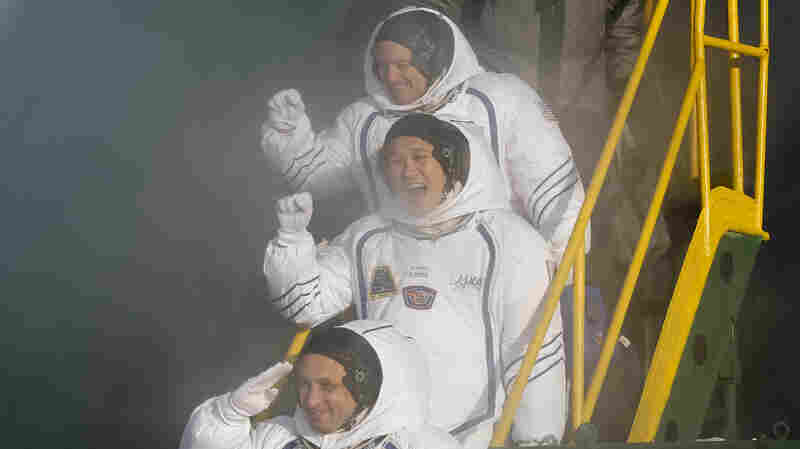 Astronaut Trio Heads For Space Station To Continue Scientific Research