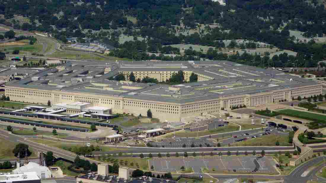 An aerial view of The Pentagon from Washington, DC on August 25, 2013.