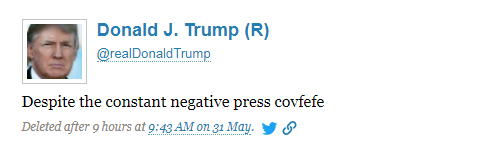 preserved by the politwoops website trump deleted this tweet after 9 hours politwoops screenshot by npr hide caption