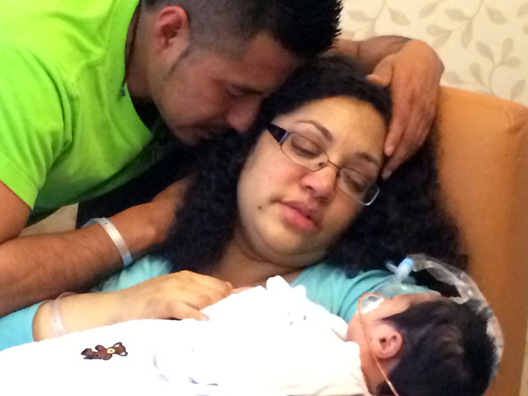Heather Lavender had a history of troubled pregnancies: several miscarriages and the birth and death of a son at 18 weeks. (Photo via Heather Lavender)