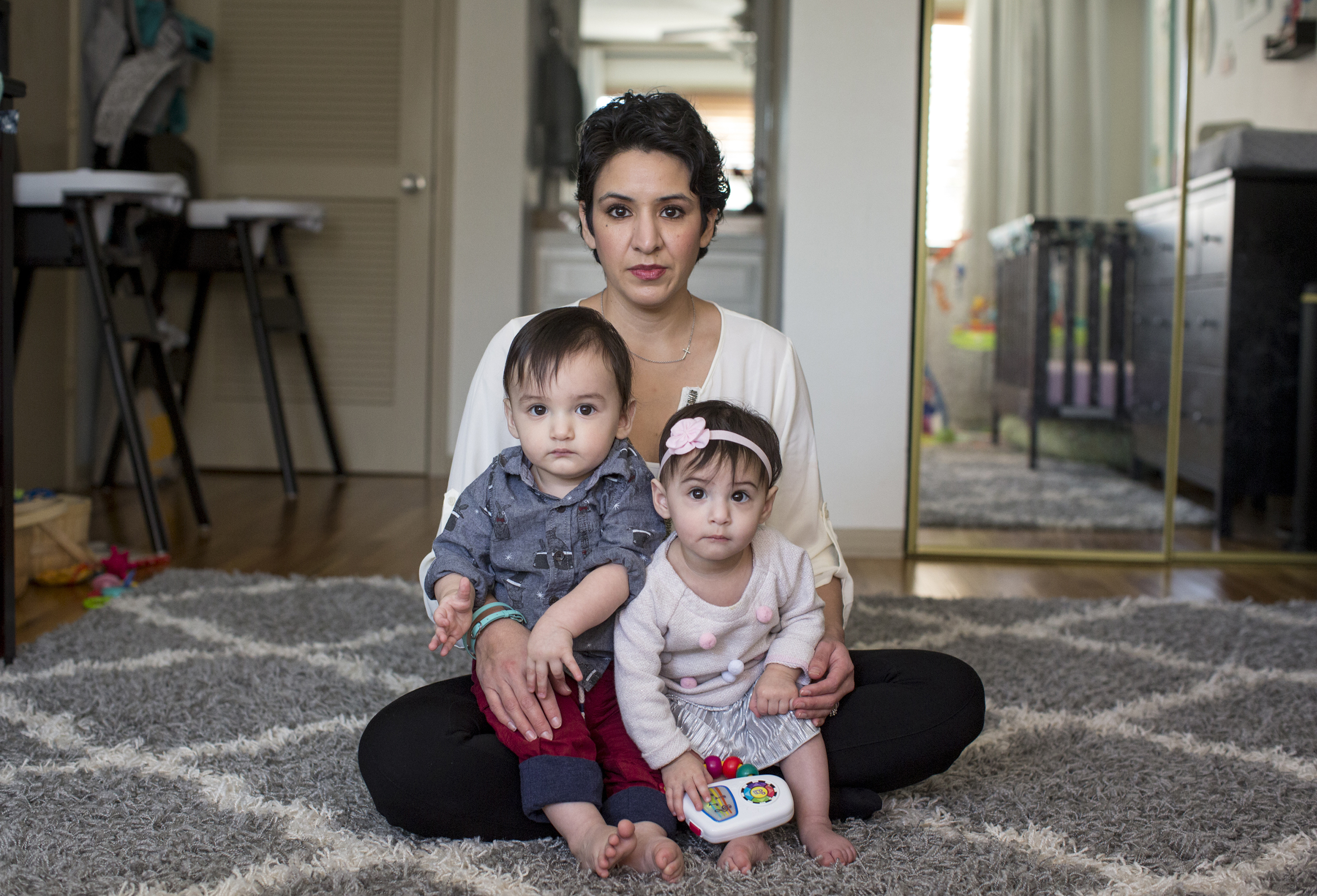 Leah Bahrencu, 35, of Austin, Texas, developed an infection after an emergency C-section to deliver twins Lukas and Sorana, now 11 months.