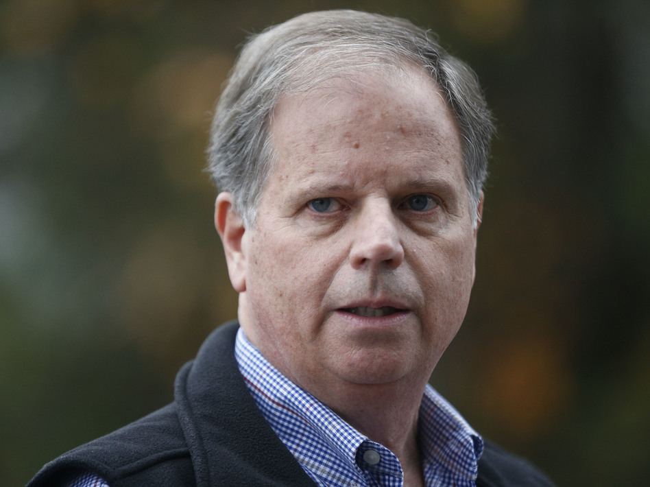 """I think the Alabama election ... it wasn't about me. It was never about me,"" Jones said early Friday. (Brynn Anderson/AP)"